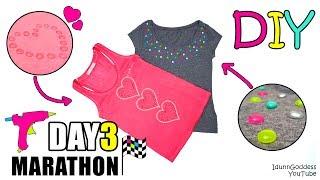 DIY T-Shirts Decorations Made With A Hot Glue - DAY 3 of 7-Day Marathon Of Glue Gun DIYs