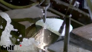 Slicing Open Golf Drivers with a Water Jet Cutter