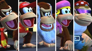 Donkey Kong Country Tropical Freeze - All Kongs Reaction to All Bosses