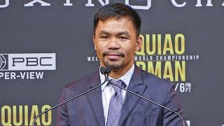 Manny Pacquiao vs. Keith Thurman * FULL PRESS CONFERENCE *