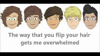 One Direction-What Makes You Beautiful lyrics-(The Adventurous Adventures of One Direction Special)