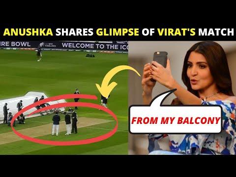 Anushka Sharma WATCHES Virat Kohli during WTC toss from her bedroom balcony
