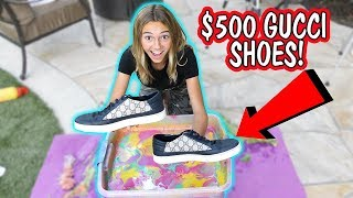 HYDRO DIPPING MY BROTHER'S GUCCI SHOES   Kayla Davis