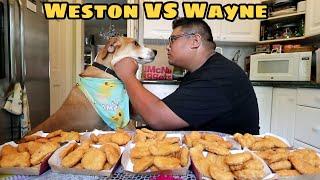 100 Nugget Challenge & Man Vs. Dog Eat Off