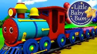 The Color Train Song!   Learn Colors with the LittleBabyBum Train!