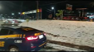 Diversos municípios registram a queda de gelo em rodovias, devido às temperaturas chegando a o grau