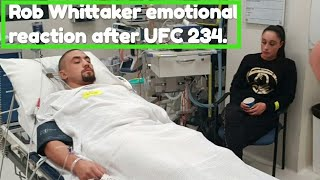 Robert Whittaker breaks silence after UFC 234 withdrawal.