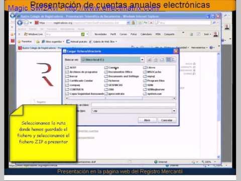 Cuentas anuales electrónicas desde la web de los Registros Mercantiles por  Asesoweb