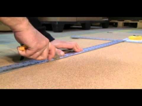 How to install a cork roll on a wall.