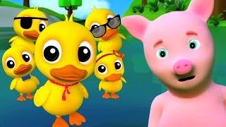 Cinq petits canards | Rime d'enfants | Five Little Ducks | Nursery Rhymes | Songs For Children