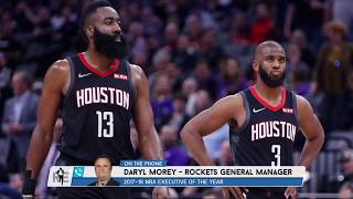 Rockets GM Daryl Morey: Reports of Harden/CP3 Strife Are Overblown | The Rich Eisen Show | 6/21/19