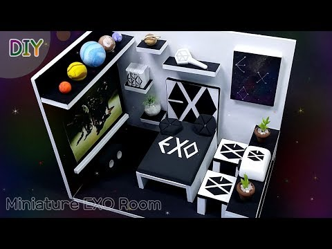 [DIY IDOL ROOM - EXO] 아이돌 방 10탄 ! EXO !! Don't mess up my tempo~ 미니어쳐 엑소방을 꾸며봅시다