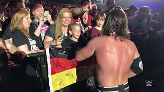 AJ Styles asks young fan to mind his WWE Championship