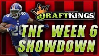 DRAFTKINGS NFL WEEK 6 TNF SHOWDOWN LINEUP: Giants Eagles