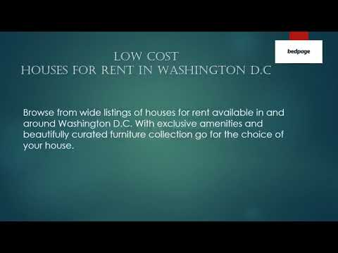 Low Cost Houses for Rent in Washington D.C