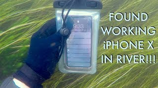 I Found an iPhone X Underwater in the River - Returned (2 Other Items In Pouch - BEST REACTION!!!)