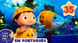 Dia das Bruxas Canção | Tubarão Halloween | Desenhos para Bebe | Little Baby Bum
