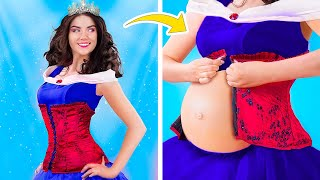 What If Princess Was Pregnant/ 16 Funny Pregnancy Situations