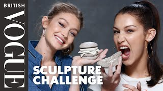Gigi And Bella Hadid Take The Sculpture Challenge | British Vogue