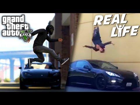 GTA 5 VS REAL LIFE 10 ! (fun, fail, stunt, ...)