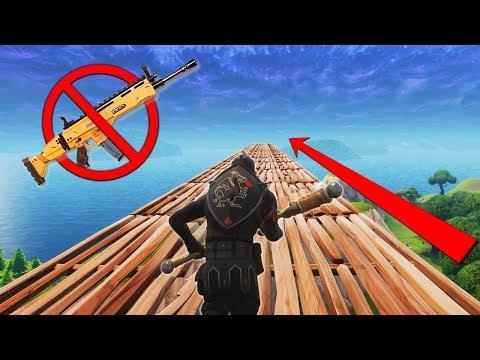 Winning Fortnite With NO GUNS Challenge!