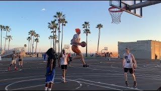 VENICE BEACH HOOPERS TRY & FIGHT ME FOR DUNKING ON THEM 😳