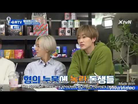 (Super TV) LeeTeuk's Tears over his sorrow these years shocked the other members :(