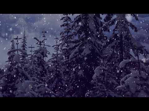 Snow Falling Motion Effect - Christmas  Background Video