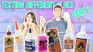 TESTING DIFFERENT GLUES FOR SLIME Part 2 | Slimeatory #51