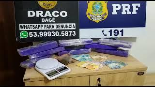 PRF, Polícia Civil e Exército Brasileiro prendem traficantes e apreendem maconha na BR-293, em Bagé