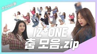 [주간아.zip] IZ*ONE 춤 모음 (feat. 춤신춤왕 깃털 채연)