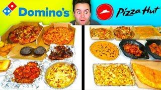 DOMINO'S vs. PIZZA HUT - Full Menu Restaurant Taste Test!