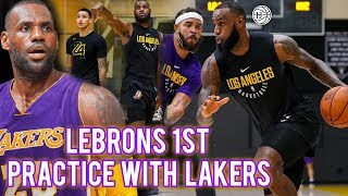 LEBRON JAMES 1st LAKERS SCRIMMAGE!! MVP? Kuzma, Lance, Rondo, JaVale and More! LABron