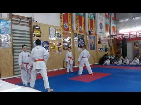 Аттестационный экзамен 29.05.2016 г. по каратэ в клубе Тигренок ч 12