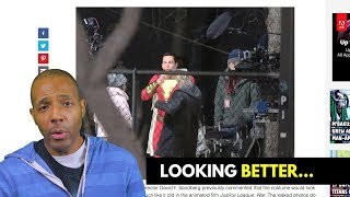 From the Front, the Leaked Shazam Costume Looks Kinda Good...