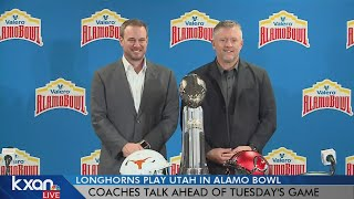 Texas, Utah coaches talk ahead of Alamo Bowl in San Antonio