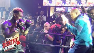 JERMELL CHARLO Goes Hard on the Mitts w/Coach Derrick James