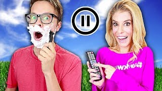 PAUSE CHALLENGE with Matt and Rebecca Zamolo for 24 HOURS! (is Game Master Over...)