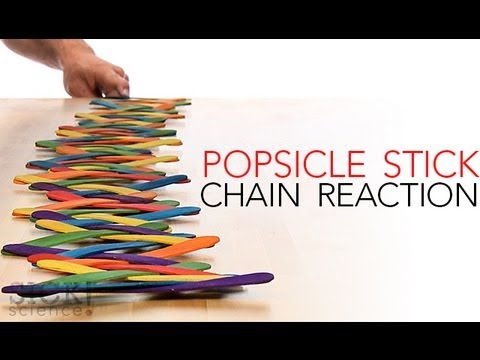 Popsicle Stick Chain Reaction Sick Science 144 Youtube