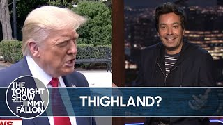 Trump Mispronounces Thailand, Backs NRA | TheTonightShow