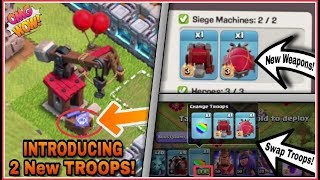 How 'WALL WREAKER' & BATTLE BLIMP' Works?   New 'SWAP TROOPS' Feature Coming With Siege Workshop!