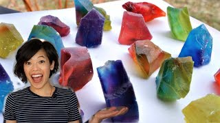 KOHAKUTOU | Edible CRYSTAL Jelly Gemstones Recipe & Taste Test