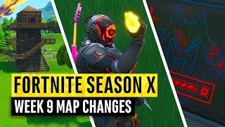 Fortnite | All Season X Map Updates and Hidden Secrets! WEEK 9