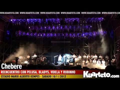 Chebere junto a Pelusa, Bladys, Videla y Rubinho - Estadio Kempes 10/11/2012