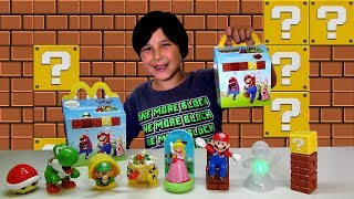 2017 European SUPER MARIO Happy Meal Toys! 8 McDonalds Kids Meal Toys Review Lucas World!