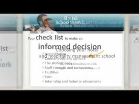 Choosing Your Hotel and Hospitality School