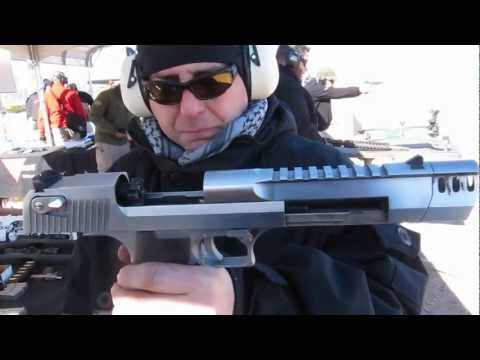 Repeat youtube video New Desert Eagle 50 cal Pistol with muzzle break shooting at Shot Show 2013