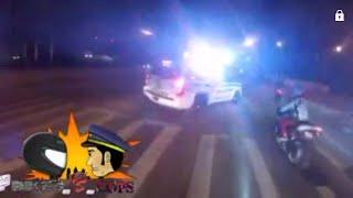 Motorcyclist Escapes Cop While Doing Wheelie