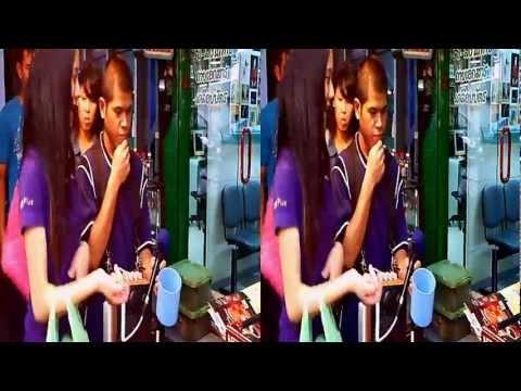 VJ Tsu Bangkok Blind Singer 3D HD No comment Camera libre