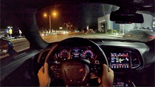 2020 Dodge Challenger R/T Scat Pack Widebody POV Night Drive (3D Audio)(ASMR)